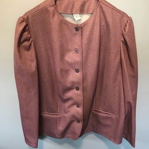 Pink skirt suit and matching blazer suit size XXL